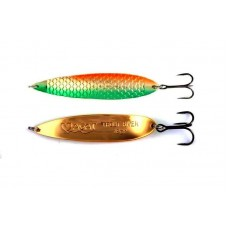 Блесна колеблющаяся AGAT Super Taimen Gold Spoon Green-orange-24g